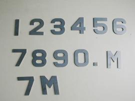 レーザー切断物 数字